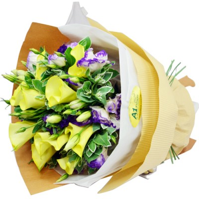 10pcs Yellow Calla Lily Bouquet